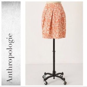 Anthropologie Woodblock Print Skirt By Odille